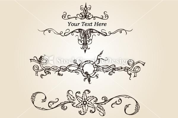 vector hand drawn calligraphic - photo #18