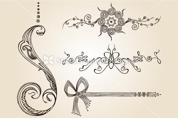 Calligraphic Design Elements Vector Set 2 Vector