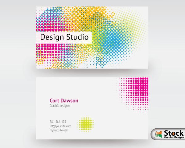 Designer Business Card Vector Download Royalty Free