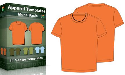 T-Shirt Templates : Men's Basic