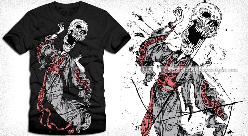 Dancing Devil Skull Man Vector T-shirt Design