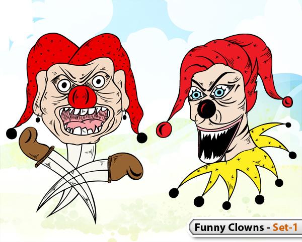 Funny Clowns -Set-1