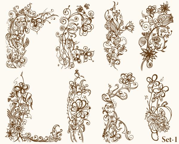 Floral Vector Illustrator Set-1