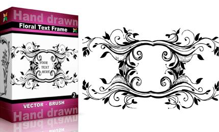 Hand Drawn Floral Text Frame – Set.4 | Vol : 2
