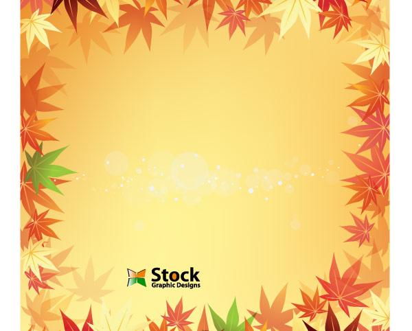 Free Autumn Leaf Background Vector