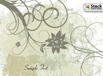 free-vector-grunge-floral-background
