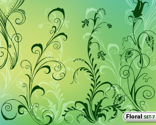 Hand Drawn Floral -Set-7