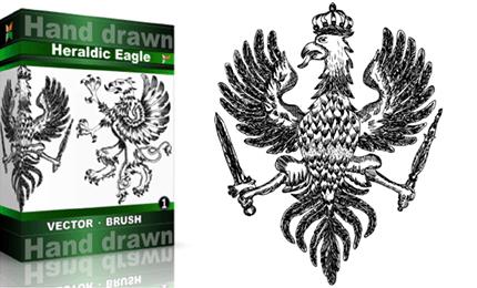 Heraldic Series : Hand Drawn Eagle