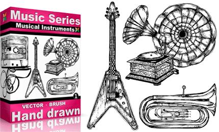 Vol.1 : Hand Drawn Musical Instruments