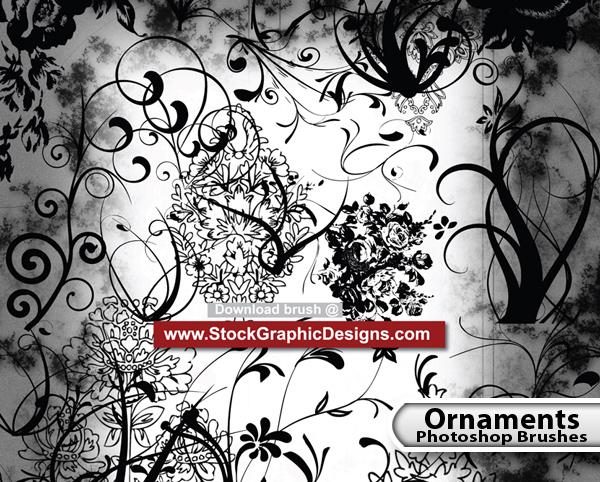 Ornament Free Photoshop Brush Pack