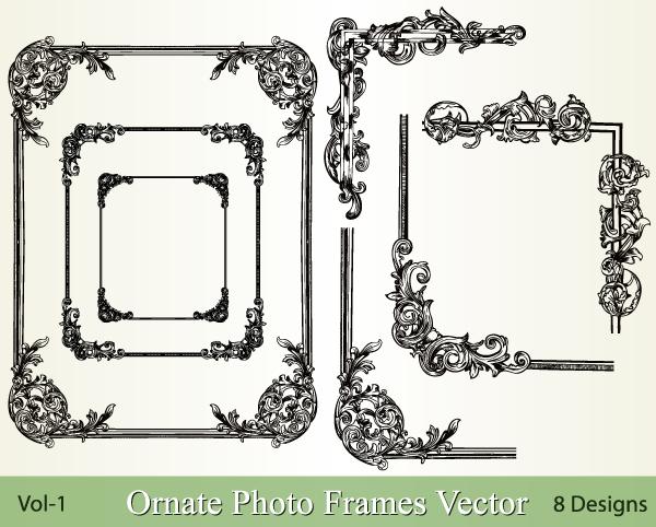 Ornate Photo Frames Vector Pack