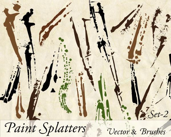 Paint Splatter Vector Illustrator Set-2