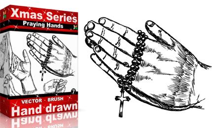 Xmas Series: Hand Drawn Praying Hands