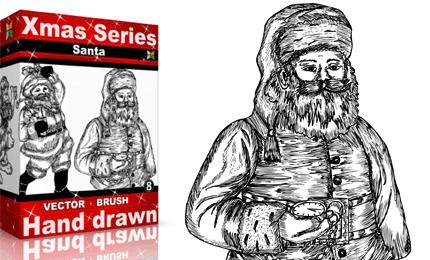 Xmas Series: Hand Drawn Santa