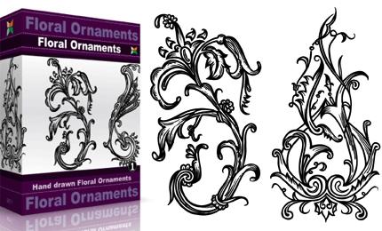 Floral Ornaments – Set.1 | Vol : 1