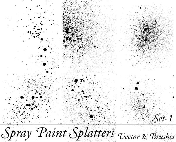 spray paint splatter vector illustration set 1 vector photoshop. Black Bedroom Furniture Sets. Home Design Ideas