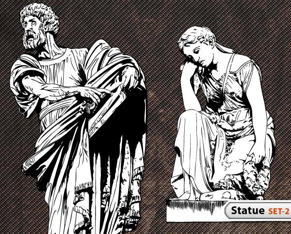 Statue Vector -Set-2