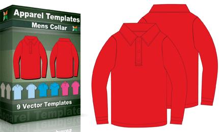 T-Shirt Templates : Mens Collar