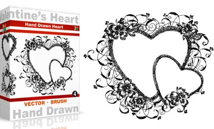 Vol.4 : Hand Drawn Valentine's Heart