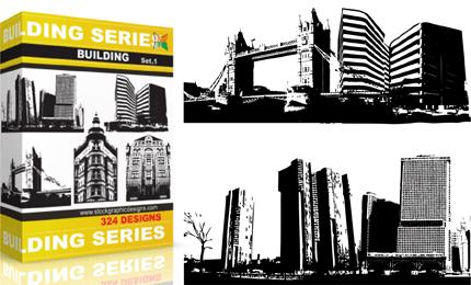 Buildings Vector & Brush Pack – Set.1