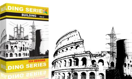 Buildings Vector & Brush Pack – Set.2