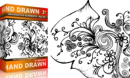 Vol.10 : Hand Drawn Sketchy Decorative Elements
