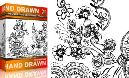 Vol.4 : Hand Drawn Sketchy Decorative Elements