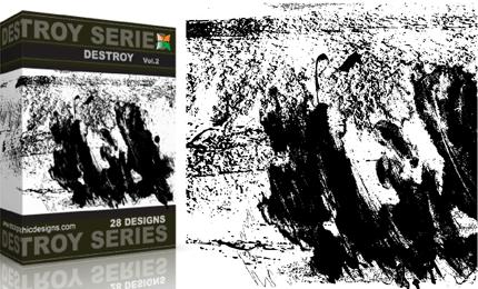 Vol.2 : Grunge Destroyed Elements Vectors