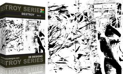 Vol.3 : Grunge Destroyed Elements Vectors