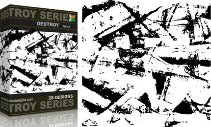 Vol.4 : Grunge Destroyed Elements Vectors