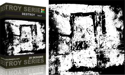 Vol.5 : Grunge Destroyed Elements Vectors
