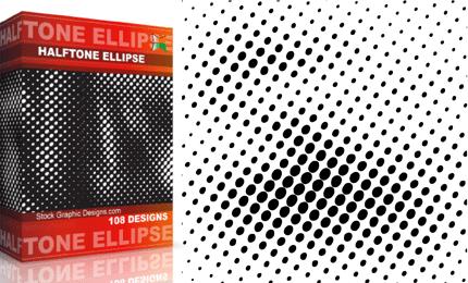 Halftone Ellipse Pack