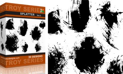 Vol.3 : Destroyed Paint Splatter Vectors