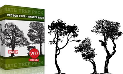 Vol.2 : Tree Vector & Brush Pack