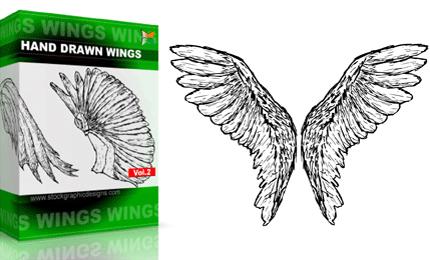 Hand Drawn Wings – Set.1 | Vol : 2