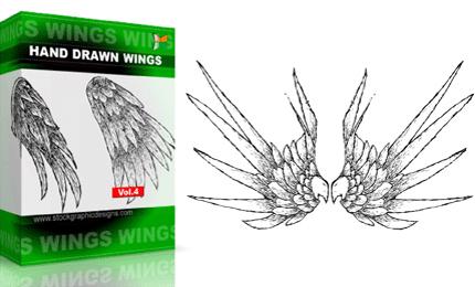 Hand Drawn Wings – Set.1 | Vol : 4