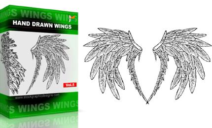 Hand Drawn Wings – Set.1 | Vol : 5