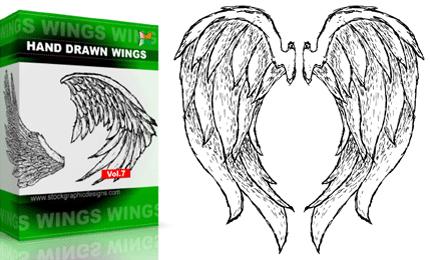 Hand Drawn Wings – Set.1 | Vol : 7