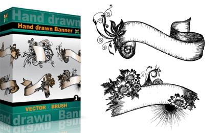 Hand Drawn Banners – Set.1   Vol : 3