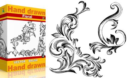 Hand Drawn Floral – Set.2 | Vol : 4