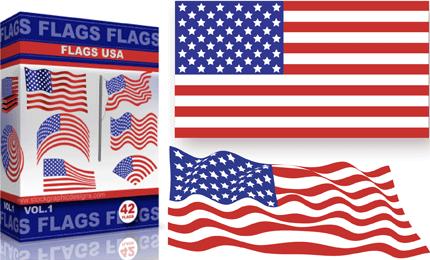 Vector USA Flags