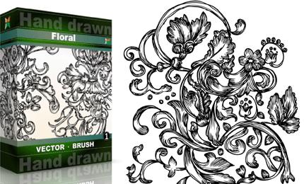 Hand Drawn Floral – Set.3 | Vol : 1